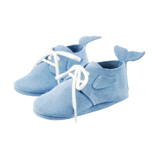 Dolphin- Little Lambo baby moccasins