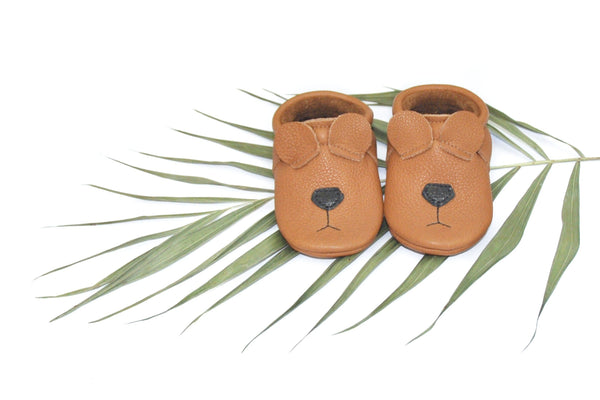 Bear- Little Lambo baby moccasins