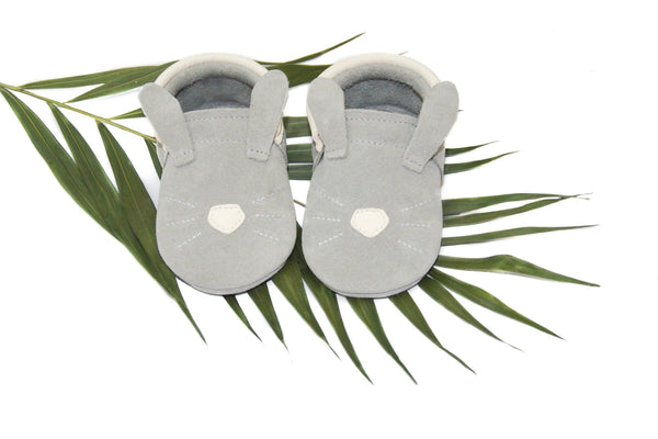 Bunny- Little Lambo baby moccasins