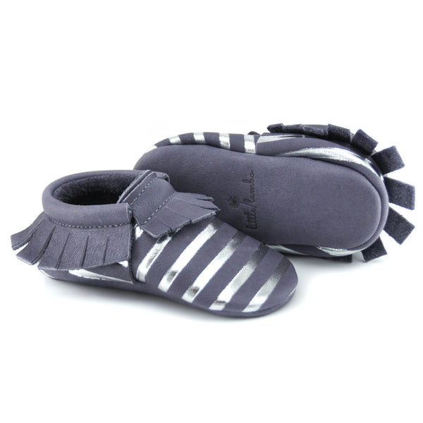 Happy Hippo Stripes - LIMITED EDITION, Moccasins - Little Lambo
