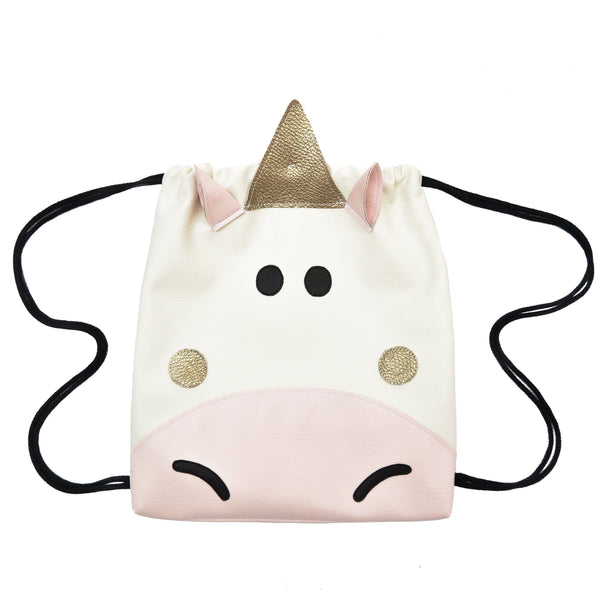 Unicorn - Backpack-Little Lambo kids backpack drawstring animal
