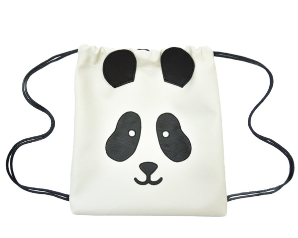 Panda - Backpack-Little Lambo kids backpack drawstring animal