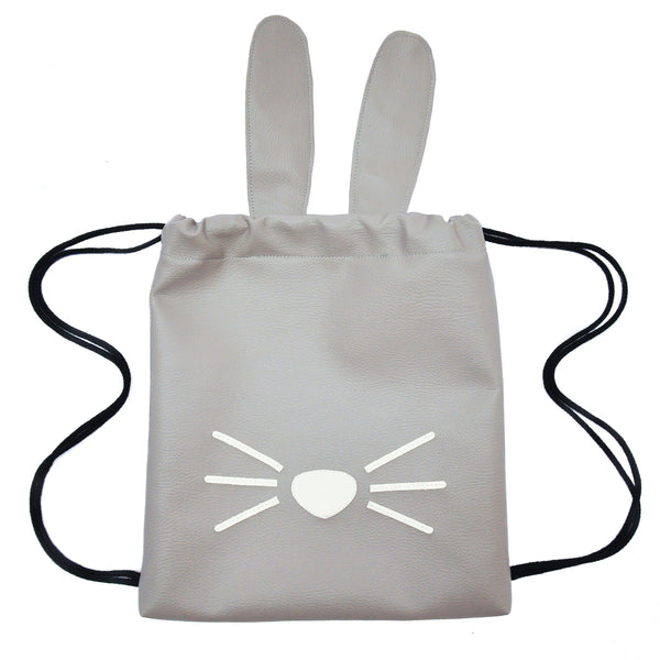 Bunny - Backpack-Little Lambo kids backpack drawstring animal