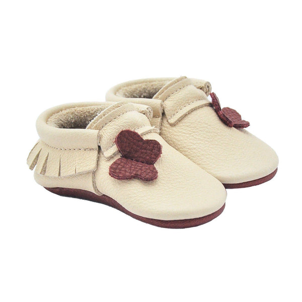 Cabo-Little Lambo vegetable tanned baby moccasins