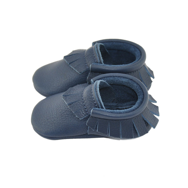 Shark-Little Lambo vegetable tanned baby moccasins