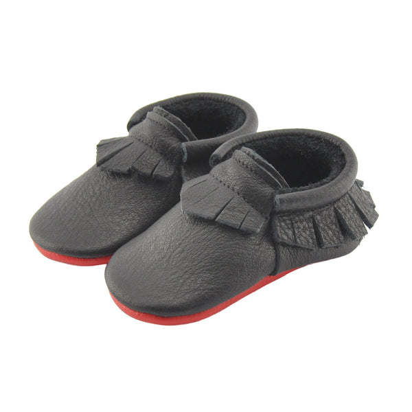 Loubs-Little Lambo vegetable tanned baby moccasins