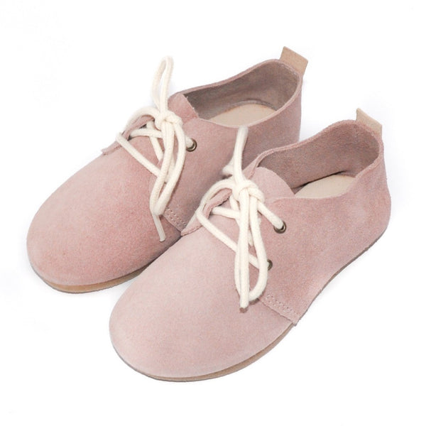Blush - Hard Sole Oxfords-Little Lambo baby moccasins otroski copatki