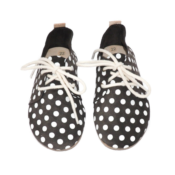 Pebble Dot - Hard Sole Oxfords-Little Lambo baby moccasins otroski copatki