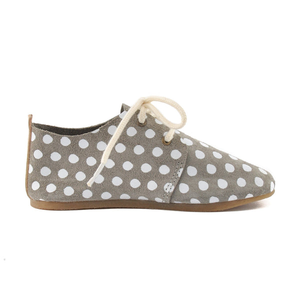 Harbor Dot - Hard Sole Oxfords-Little Lambo baby moccasins otroski copatki