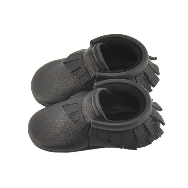 Black, Toddler Moccasins - Little Lambo