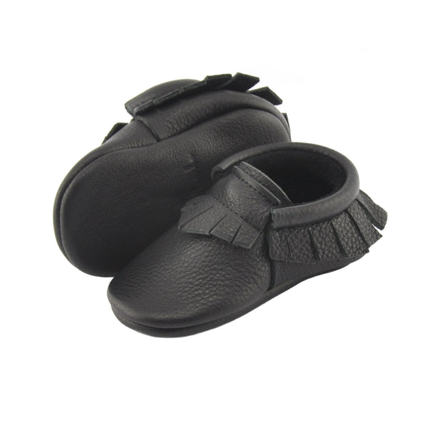 Black, Baby Moccasins - Little Lambo