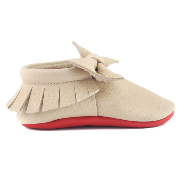 Nude Loubs-Little Lambo vegetable tanned baby moccasins