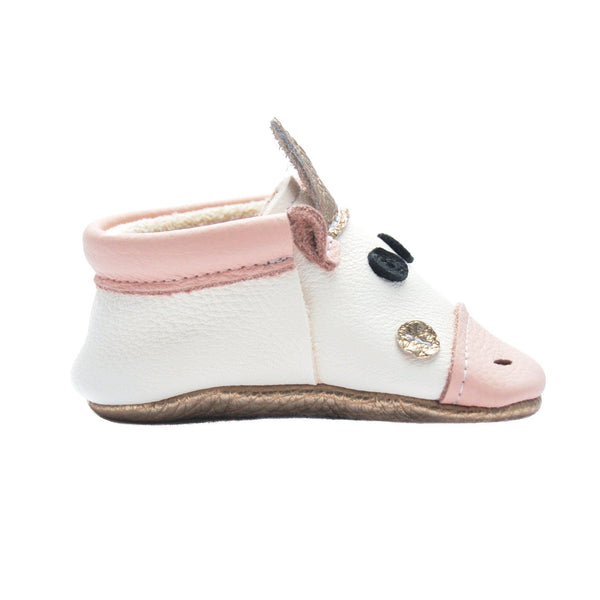 Unicorn Blush- Little Lambo baby moccasins