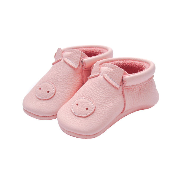 Piggy- Little Lambo baby moccasins