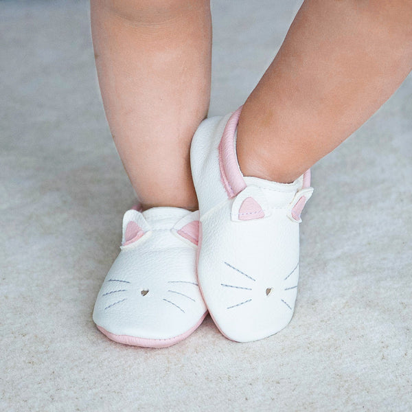Kitty- Little Lambo baby moccasins