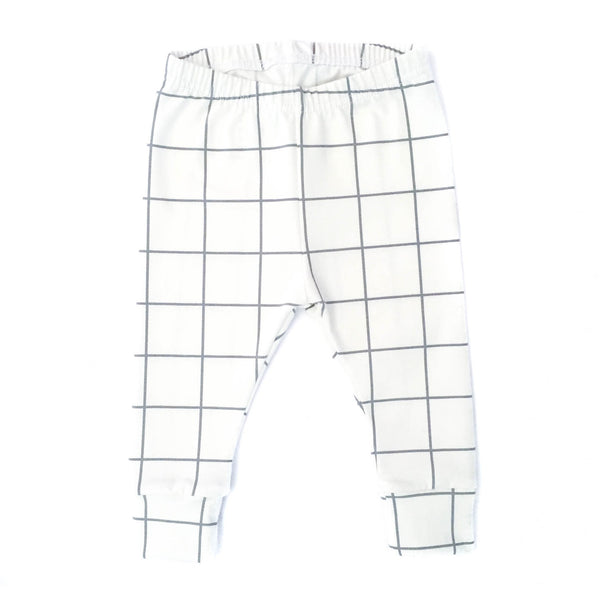 Grid, Baby Leggings - Little Lambo