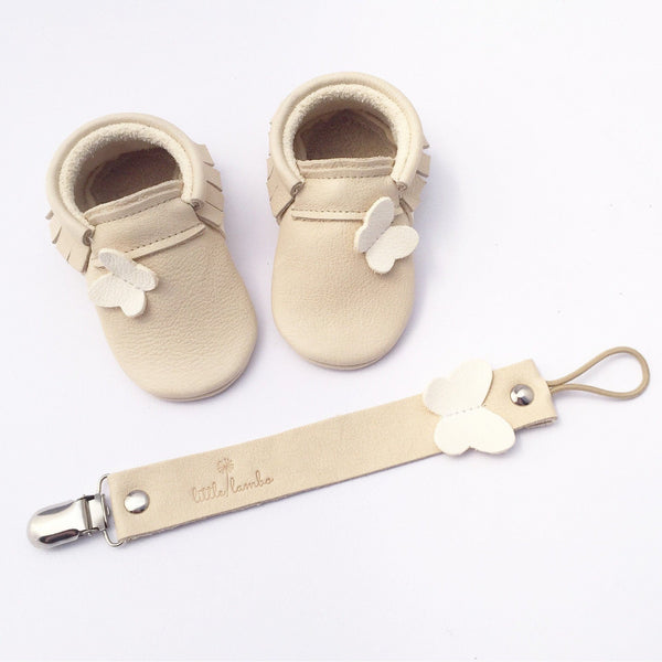 Bali-Little Lambo vegetable tanned baby moccasins