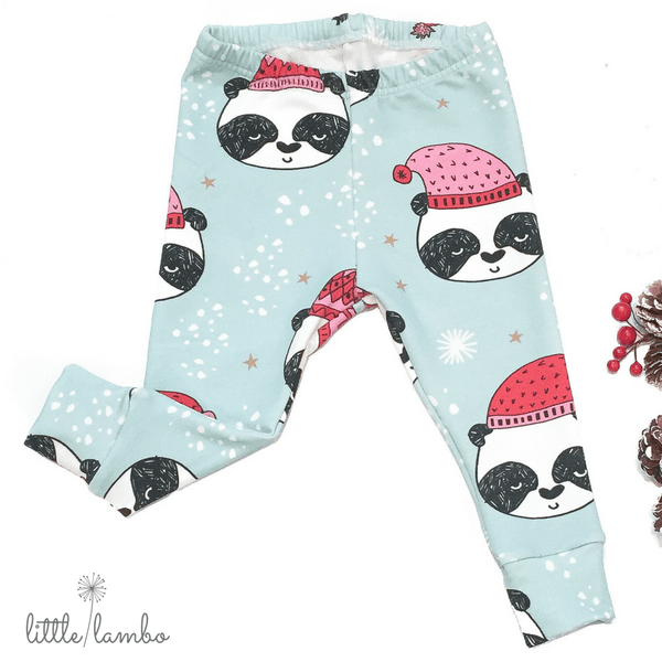 Christmas Panda-Little Lambo clothing leggings rompers