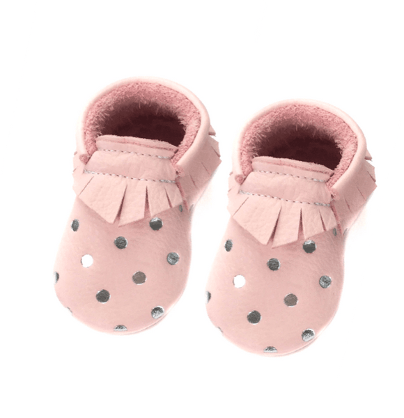 Blush Dots - LIMITED EDITION, Moccasins - Little Lambo