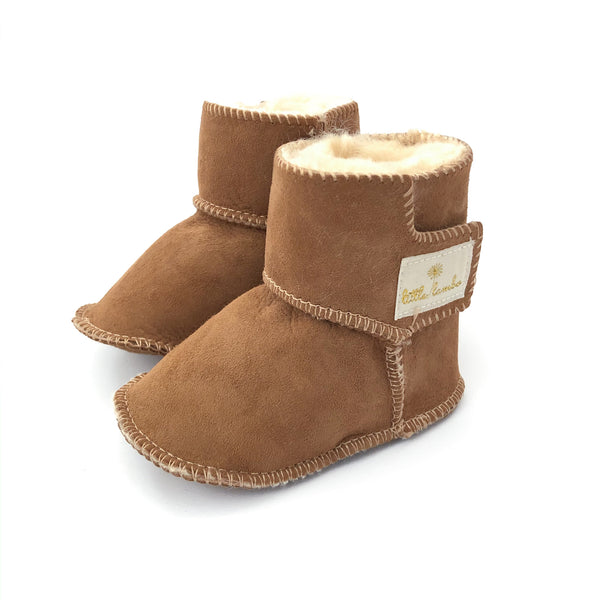 Snuggly booties - Brown - NEW