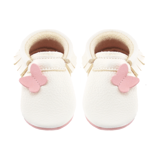 Fly away-Little Lambo vegetable tanned baby moccasins