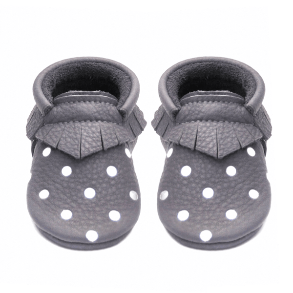 Happy Hippo Dots - LIMITED EDITION, Moccasins - Little Lambo