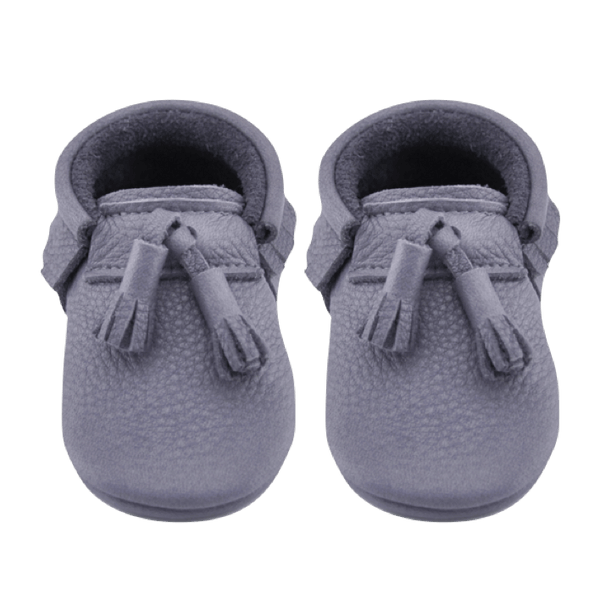Happy Hippo Tassels-Little Lambo vegetable tanned baby moccasins