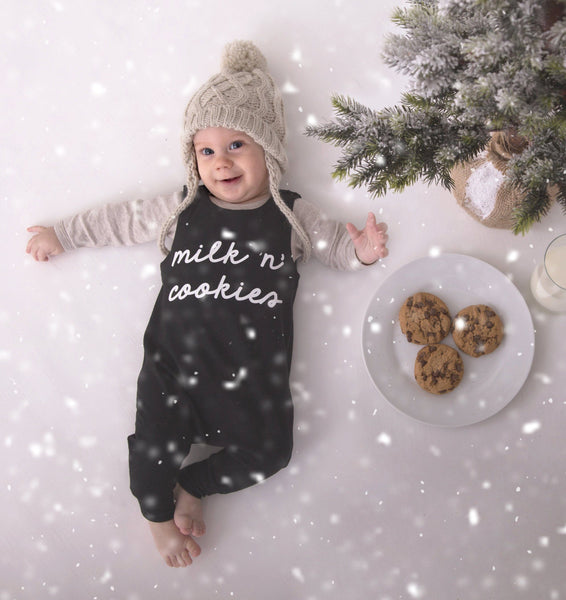 Milk n`cookies - Black-Little Lambo clothing leggings rompers