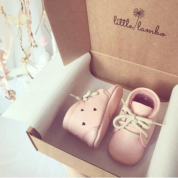 Blush Heart Booties