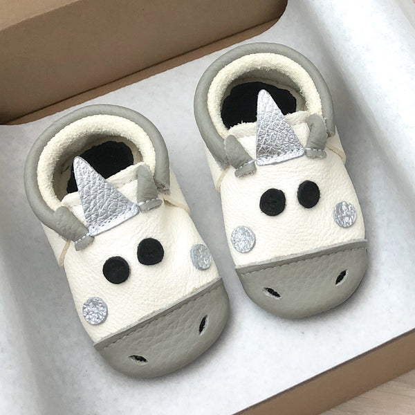 Unicorn Grey- Little Lambo baby moccasins