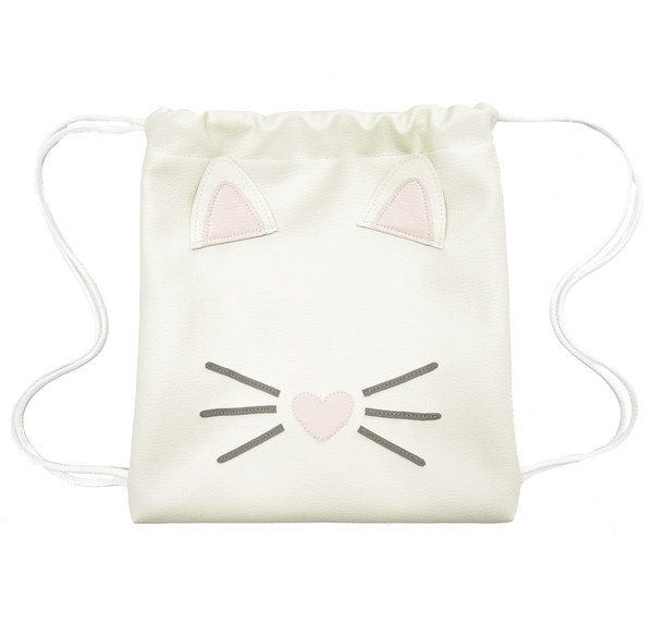 Kitty - Backpack-Little Lambo kids backpack drawstring animal