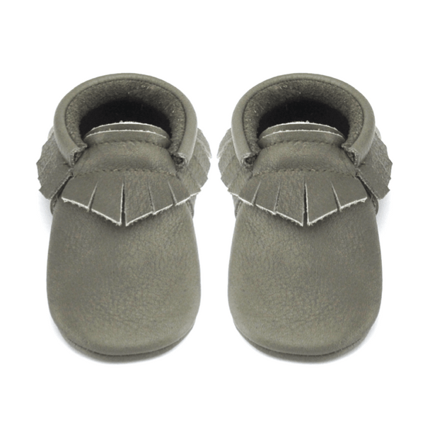 Monk-Little Lambo vegetable tanned baby moccasins