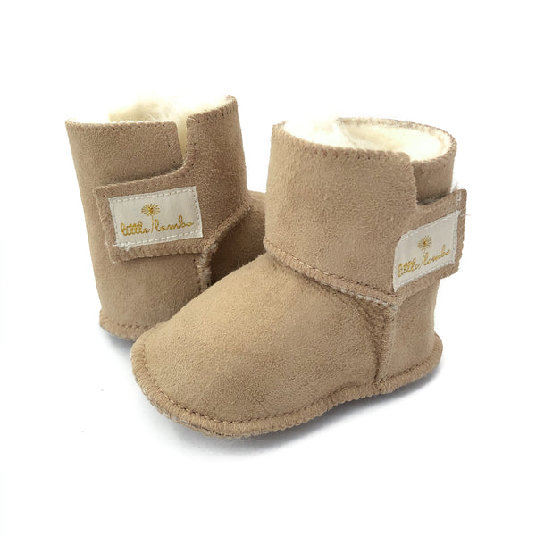 Snuggly booties - Sand - NEW