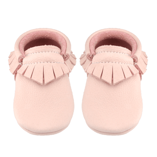 Blush-Little Lambo vegetable tanned baby moccasins