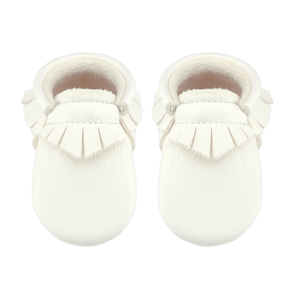 Milk-Little Lambo vegetable tanned baby moccasins