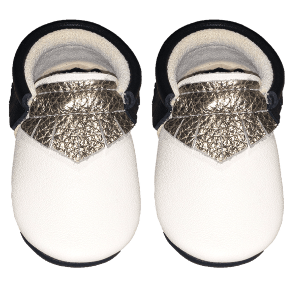 Goldie-Little Lambo vegetable tanned baby moccasins