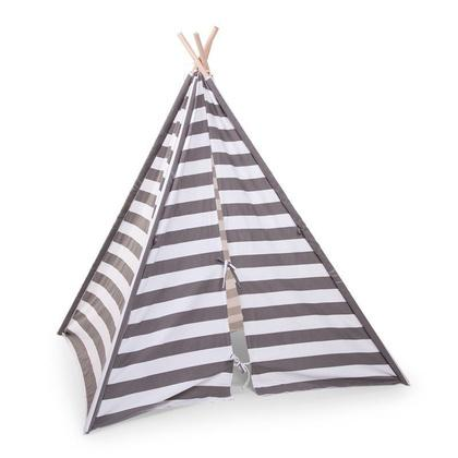 Tipi Tent - Grey/White stripes