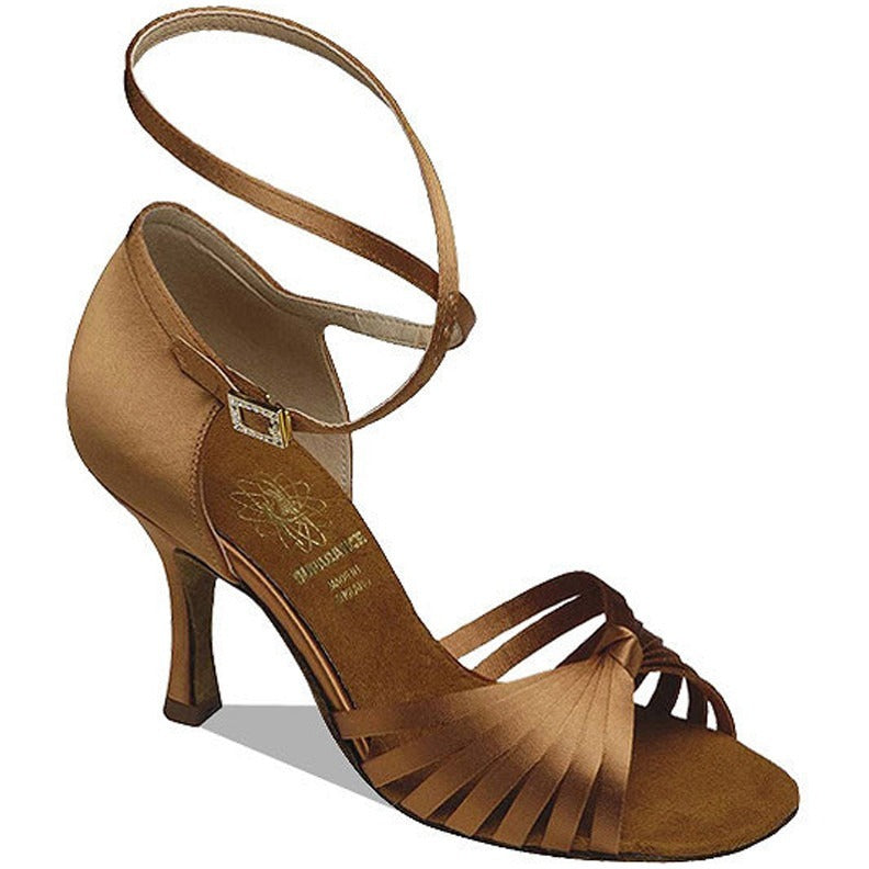 1063, Narrow, Dark Tan Satin