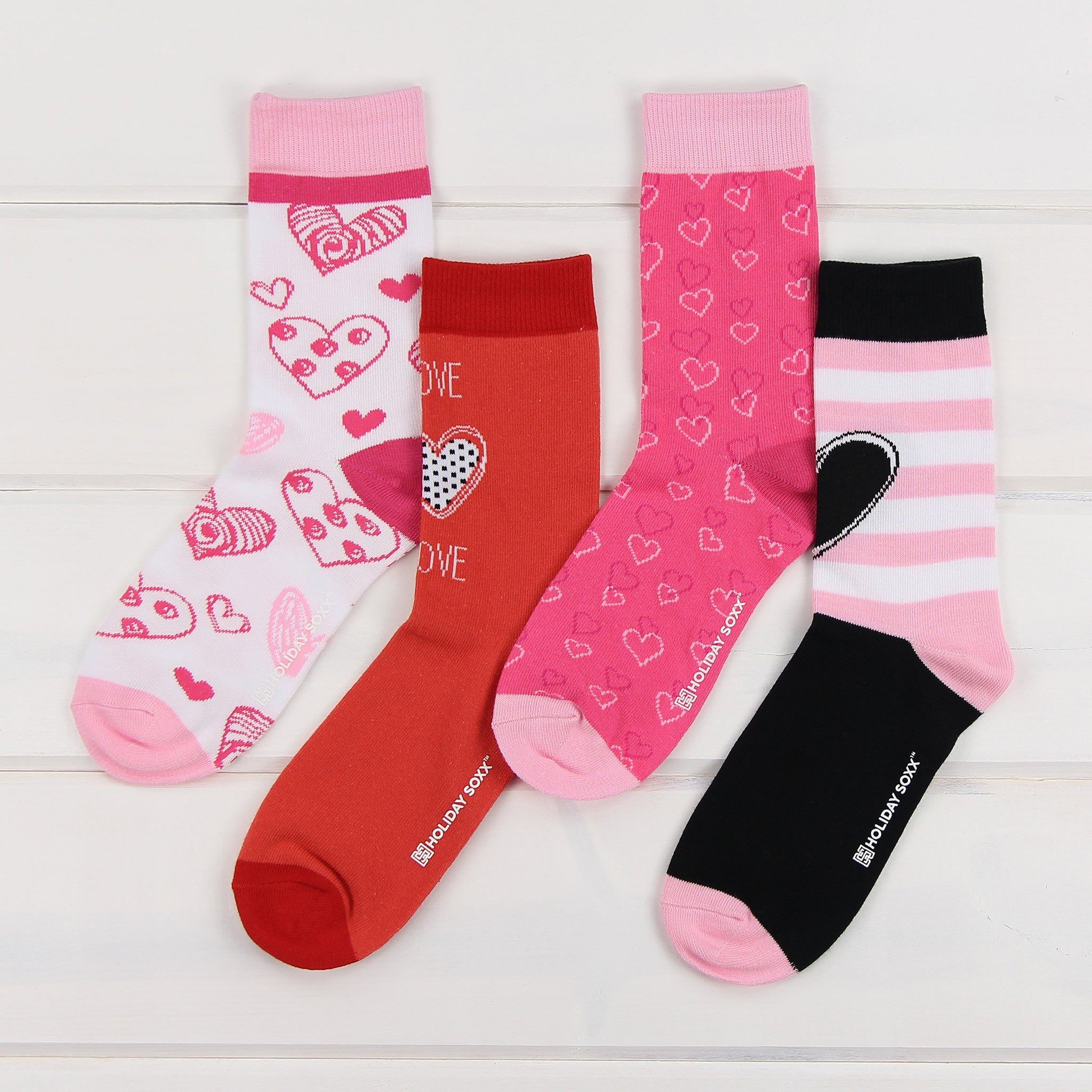valentines day socks i heart you 4 pack - Valentines Socks
