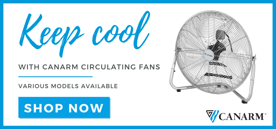 keep cool with Canarm circulating fans