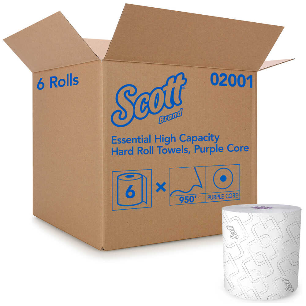 Hand Towel - Scott® Essential* High Capacity Hard Roll 02001 - Hansler.com