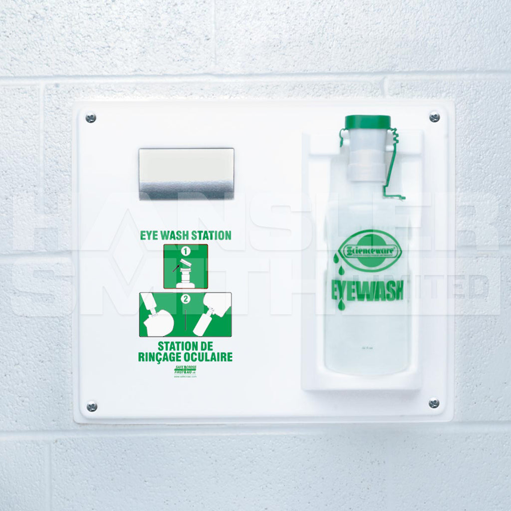 Eyewash Station - Safecross Single for 946 mL Eye Wash Bottle 04074 - Hansler.com