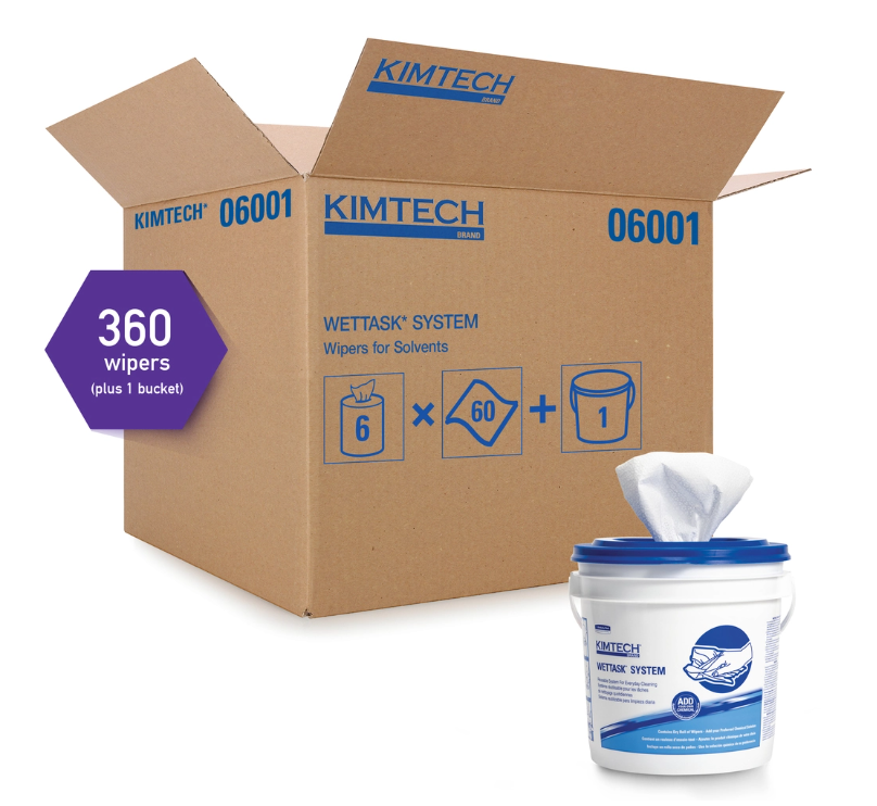 Wipers - Kimtech Prep™ Wipes for the WetTask™ Wiping System – Hydroknit® & Spunlace 06001 - Hansler.com