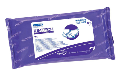 "Wipes - Kimtech Pure* W4 PreSat Disinfecting 11"" x 9"", White 06070 - Hansler.com"
