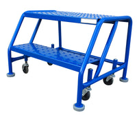 Ladder - Canway Mobile Ladder Stand - No Handrail 2 Step - Hansler.com