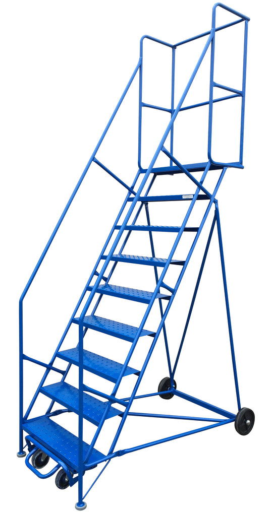 Ladder - Canway Mobile Ladder Stand 9 Step - Hansler.com