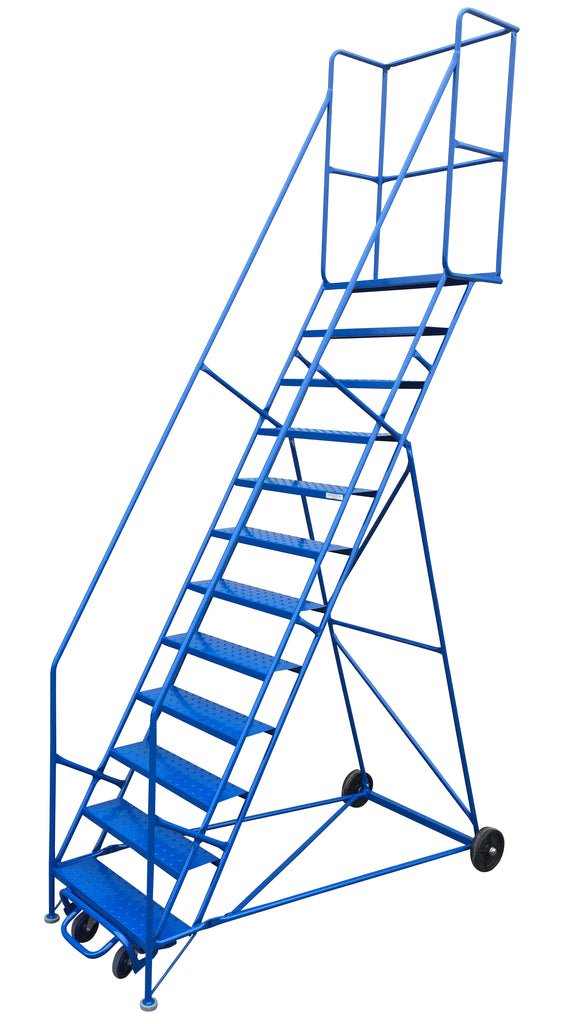 Ladder - Canway Mobile Ladder Stand 12 Step - Hansler.com