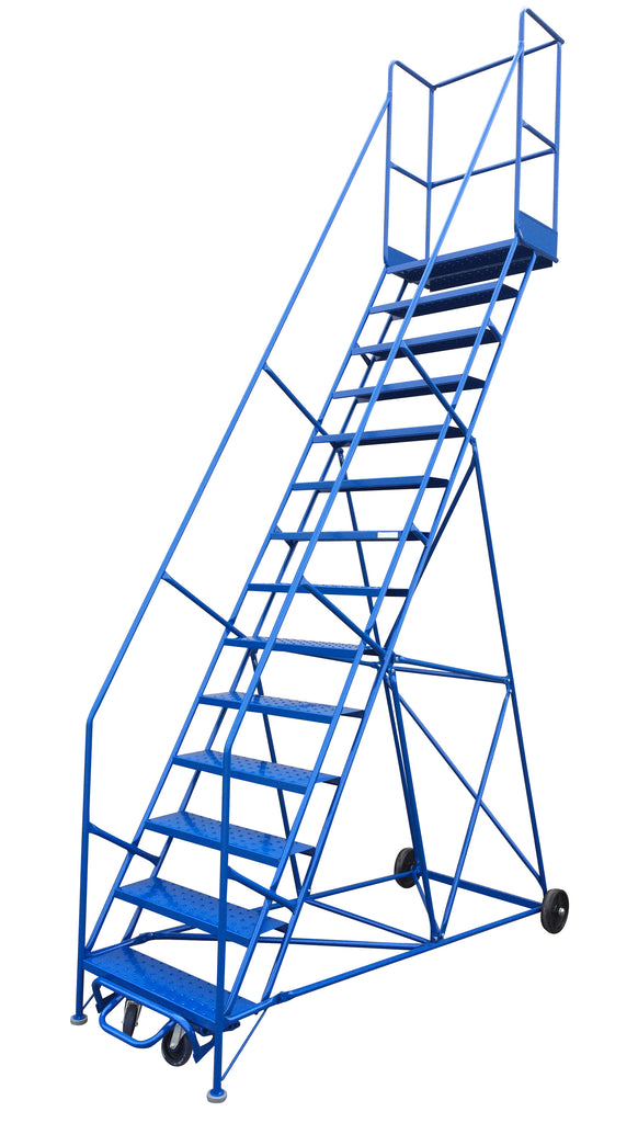 LADDER Mobile Ladder Stand 14 STEP CANWAY - Hansler.com