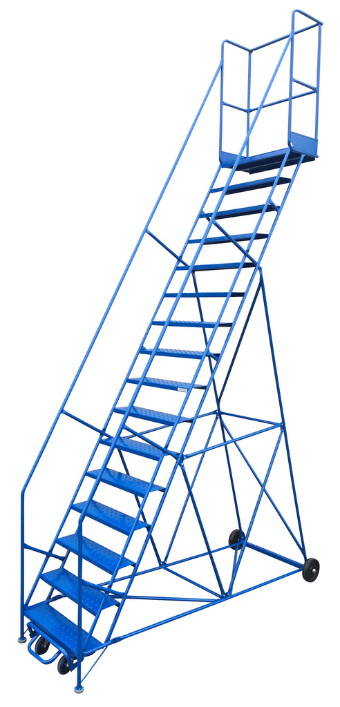 Ladder - Canway Mobile Ladder Stand 16 Step - Hansler.com
