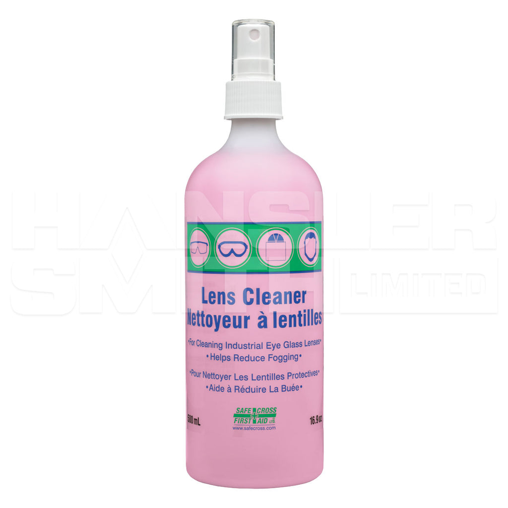Lens Cleaning Solution - Safecross with Spray Pump - Hansler.com